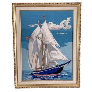 Beautiful Vintage Sailboat Canvas
